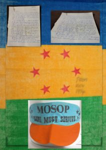 MOSOP cap and flag